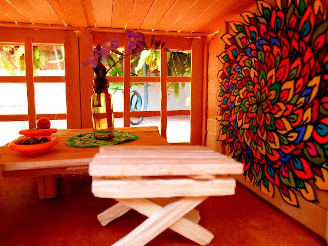 Muebles hechos con palitos de helados / Popsicle furnitureMesas y sillas hechas con palitos de helados / Popsicle furniture