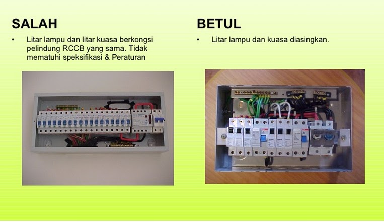 Pendawaian Elektrik  SALAH Lawan BETUL : belajar wiring elektrik - yogabreezes.com