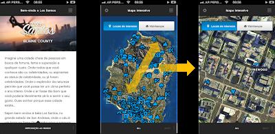 GTA V mapa interativo no iPhone