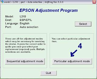 Reset Epson L210
