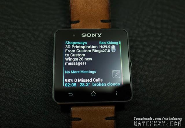 Sony SmartWatch 2 แสดงภาษาไทยใน Mail