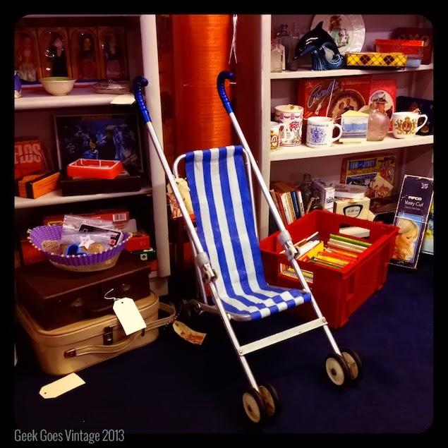 Maclaren 1960's striped dolls pushchair