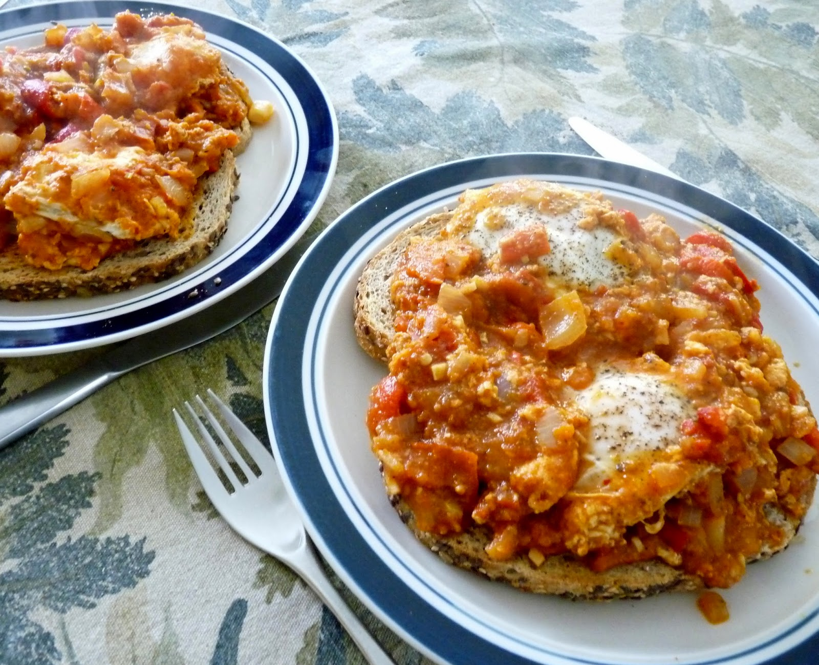 Eggs in Purgatory, also known as Uova in Purgatorio, Huevos en Purgatorio, and Shakshouka