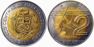 moneda de 2 nuevos soles