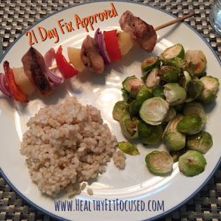 21 Day Fix Recipe, Pineapple Chicken Skewers, www.HealthyFitFocused.com, Julie Little Fitness