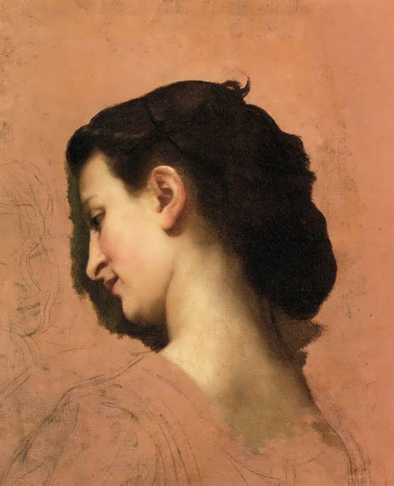 Study of a young girl s head 2 william adolphe bouguereau www