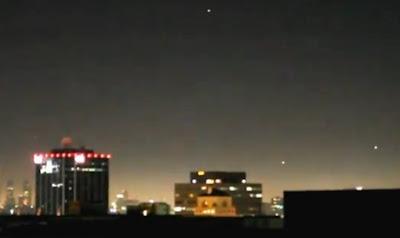 varios ovnis en hollywood y helicopteros se acercan julio 2012