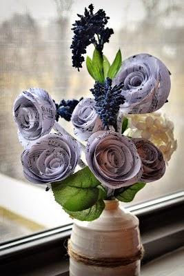 DIY, Flores de Papel para Navidad