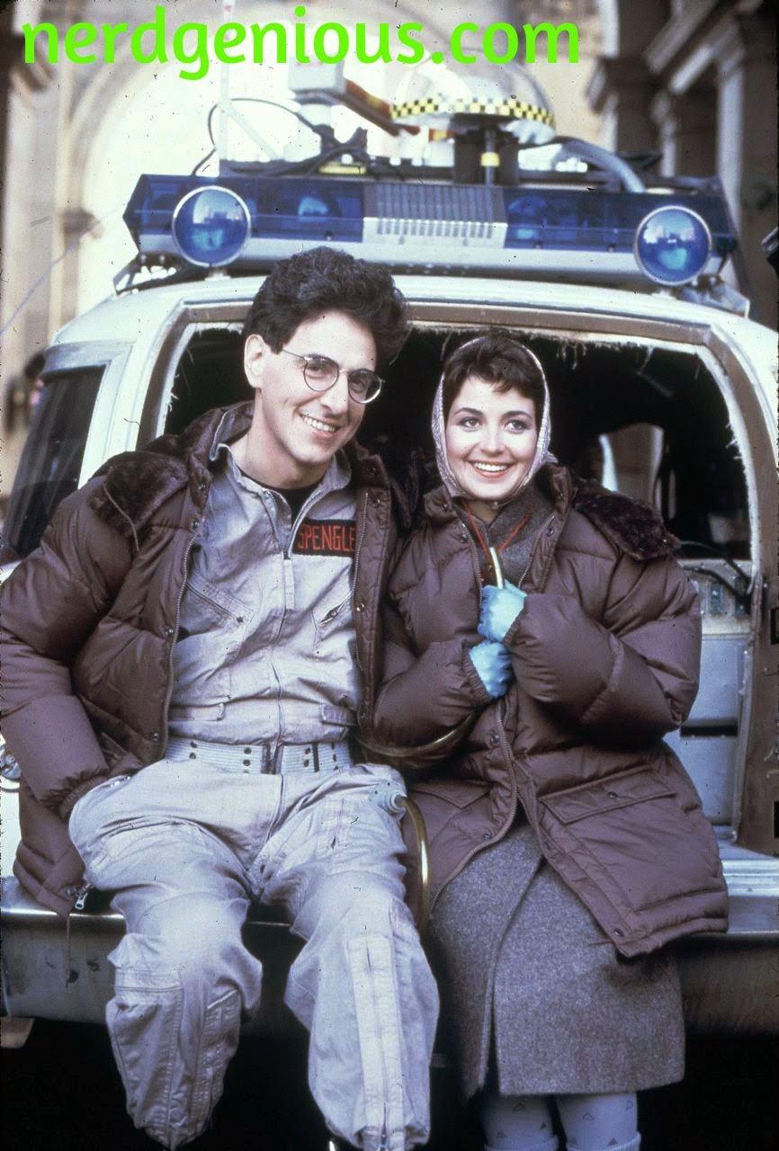 The late comedy legend Harold Ramis with Ghostbusters co-star Annie Potts