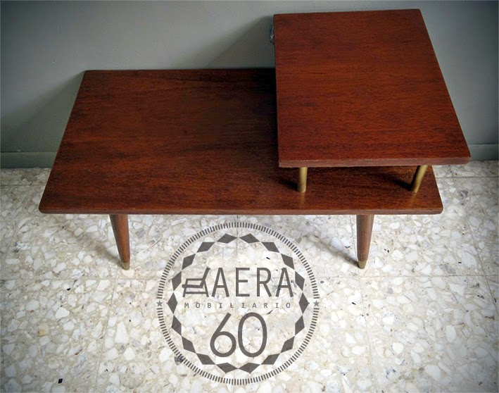 Aera60 mobiliario mesa vintage estilo danes for Mesa telefonera