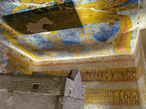 Interior detail of burial chamber of Rameses IV, Valley of Kings, West Bank of Luxor, Egypt