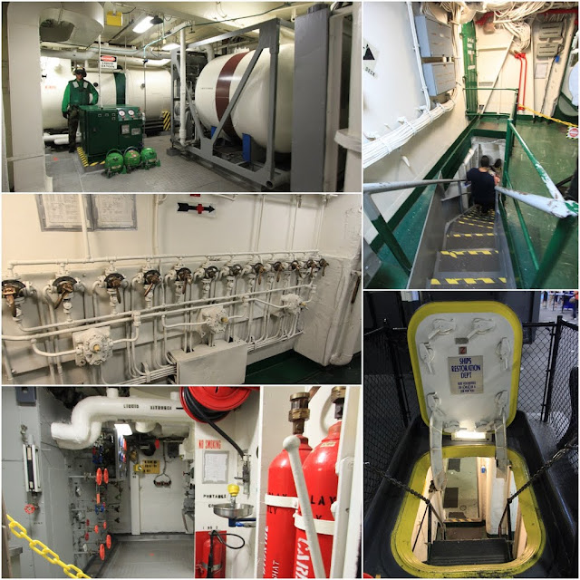 Engine Room  and Liquid Oxygen Plant in the USS Midway Museum in San Diego, California, USA