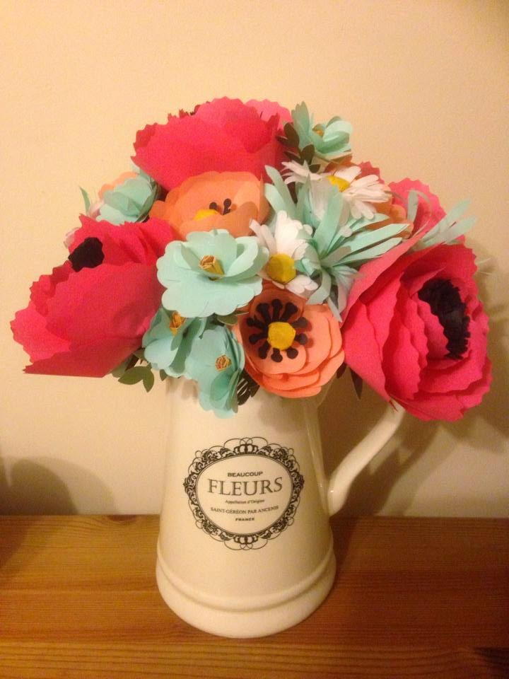 Stampin up simply created flower boquet in a jug