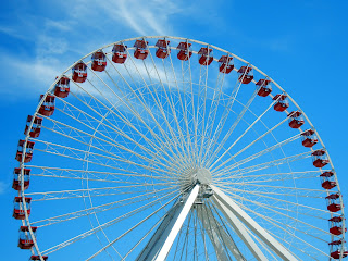 Ferris Wheel on the Navy Pier in downtown Chicago, Illinois