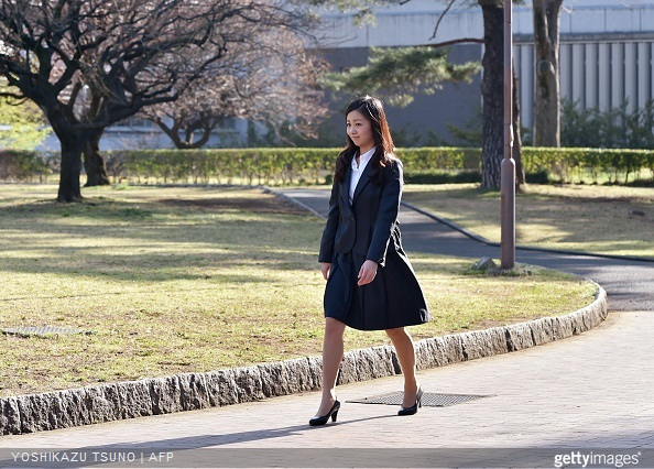 Japanese Princess Kako, younger daughter of the Emperor's second son Prince Akishino, arrives at the International Christian University (ICU) campus for an entrance ceremony to the university in Tokyo