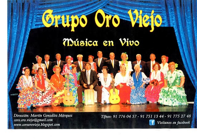 Coro Oro Viejo, CC El Madroño Vicálvaro, 14 marzo 19:00