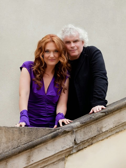 Simon Rattle & Magdalena Kozena - photo credit CEMA Jiri Slama