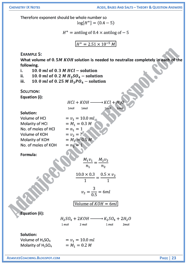 chemistry notes for class 11 pdf free download
