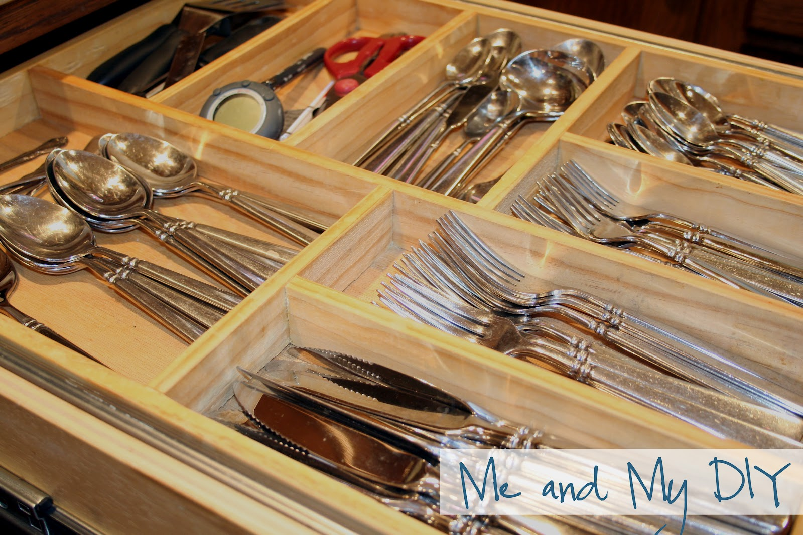 Kitchen drawer inserts for spices - When We Built Our Home Twelve Years Ago Wood Tiered Drawer Dividers Weren T Exactly In The Budget