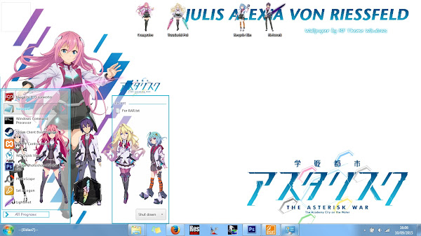[Theme Win 7] Gakusen Toshi Asterisk by Eldiaz7 2