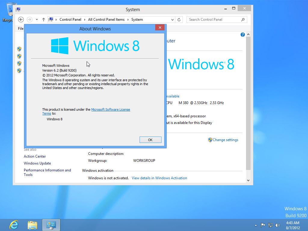 activation key for windows 8.1 pro build 9600