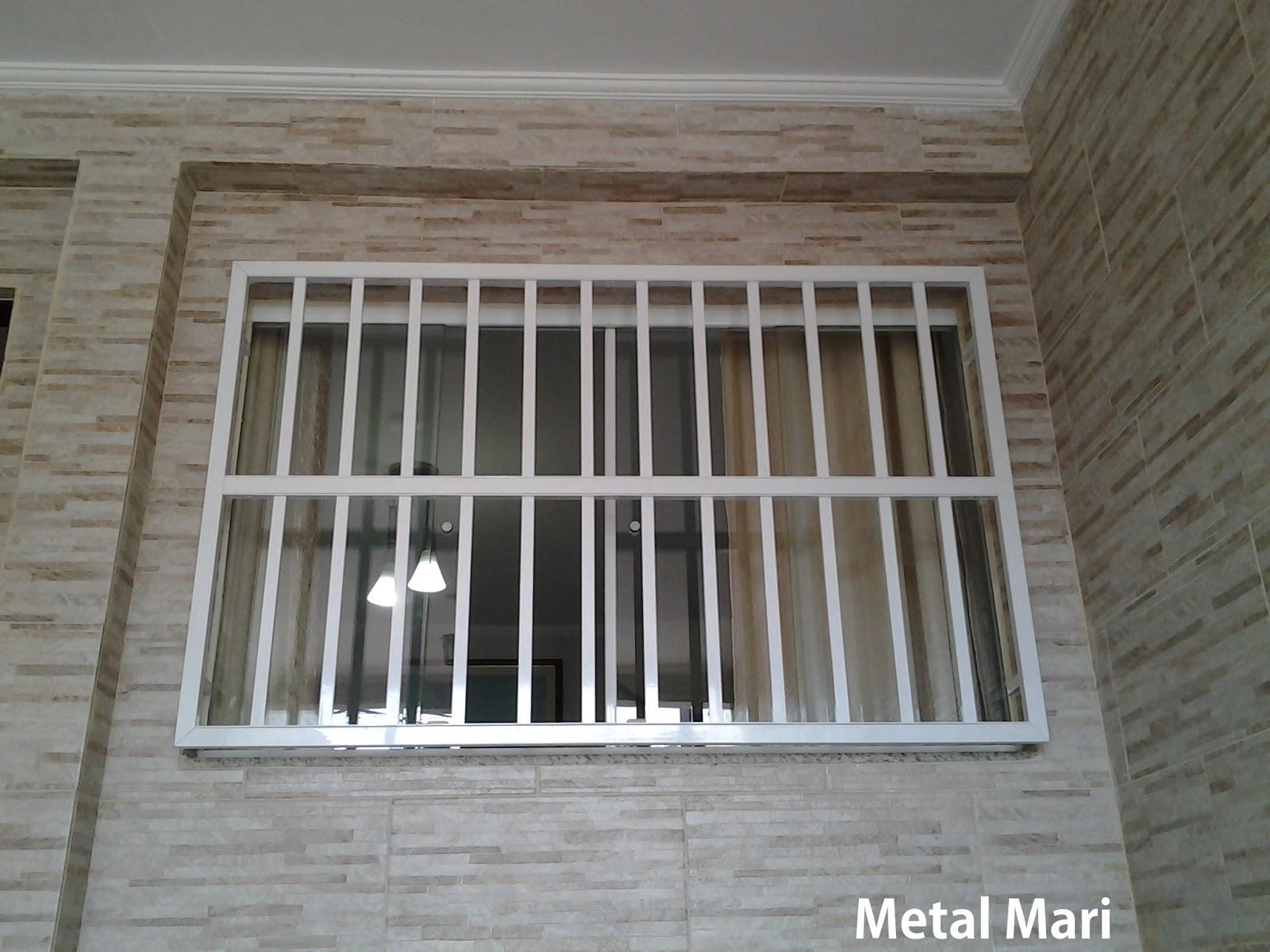 #5A5042 Metal Mari Esquadrias : Grade de alumínio branco (Metal Mari) 4136 Grade De Ferro Para Janela De Aluminio