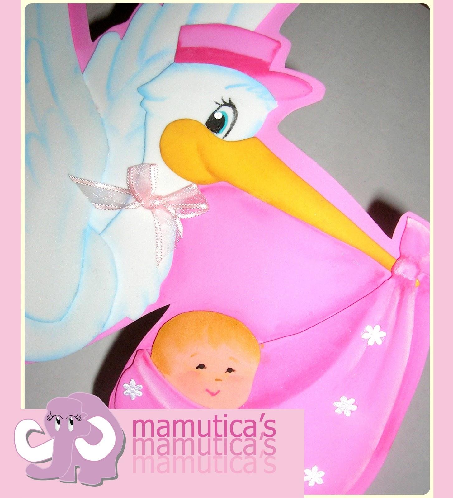 Souvenir para baby shower de cigueñas - Imagui