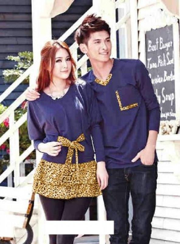 Jual Online Dress Couple Orangetta Murah di Jakarta Bahan Spandex Korea