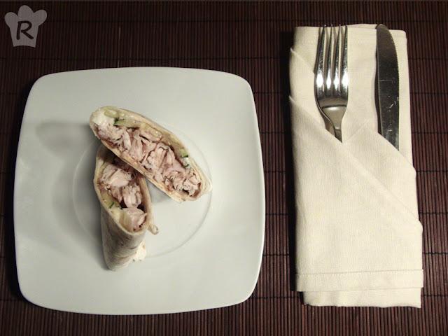 Wrap de pollo con mayonesa de yogur