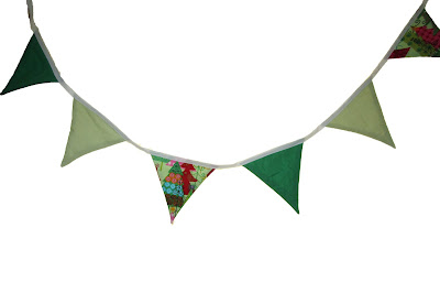 Bunting, sewing, party, christmas, fabric, xmas
