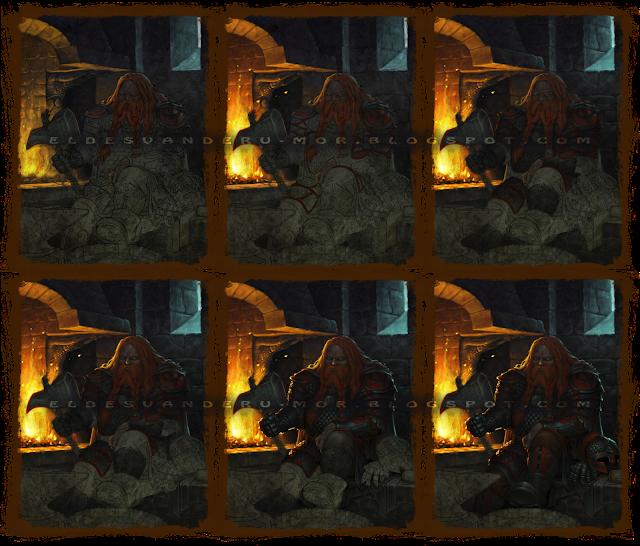 LAs imágenes muestran el los distintos pasos realizados en la ilustración de Din con la aplicación del color en Photoshop. Trabajo realizado por ªRU-MOR