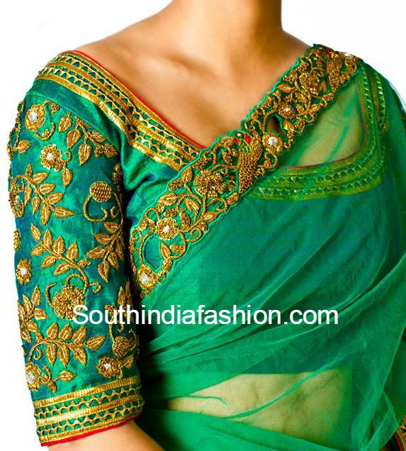 Zardosi Work Blouse  South India Fashion