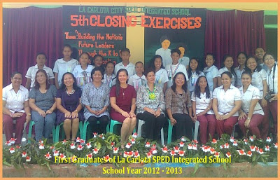 First Graduates of La Carlota SPED integrated school 2012-2013