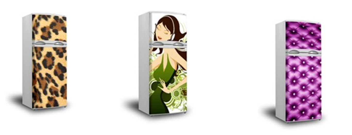 Pintura y madera viste tu nevera con un vinilo decorativo - Vinilos decorativos para electrodomesticos ...