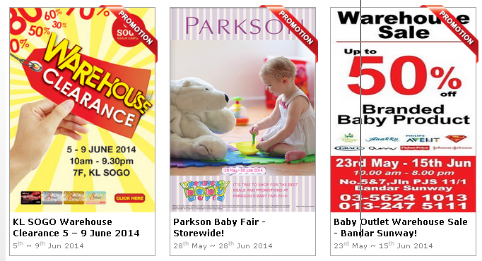 Baby, Kids and Mum Sales for this June 2014