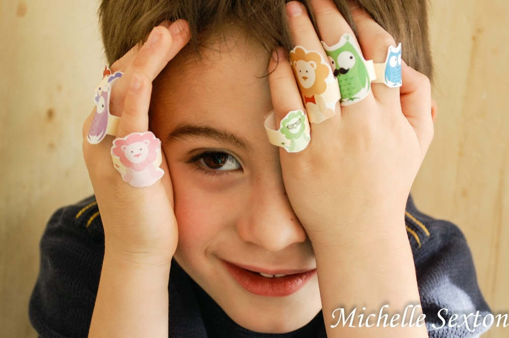 upgrade their playtime with these animal rings - click through and get these free printables