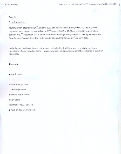 Chidi Opara Reports Special Report The Petition Nigeria
