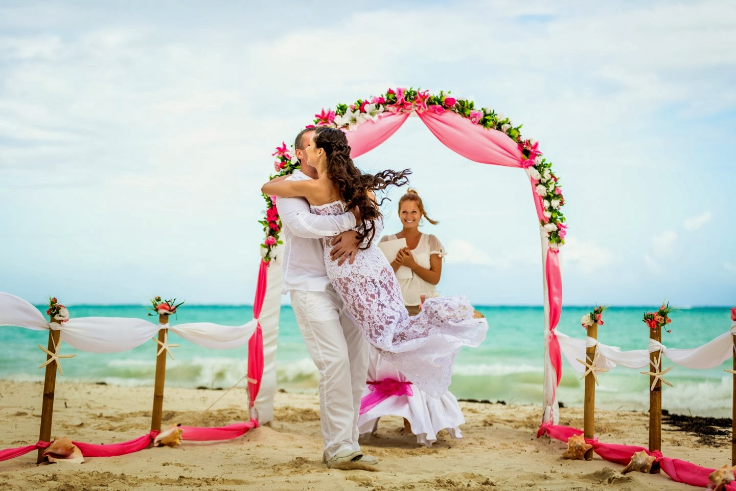 www.tvn.hu imagesize:1440x960 lsm 2 The ceremony took place on the beach in front of the Sanctuary Hotel in Cap Cana. We wrote the vows and Caribbean Wedding Agency kindly printed it out and ...