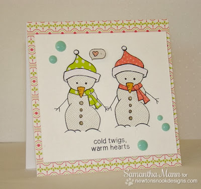 Frozen Friends Snowman Card by Samantha Mann for Newton's Nook Designs