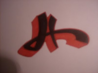 Graffiti Letter H Bubble Style Design