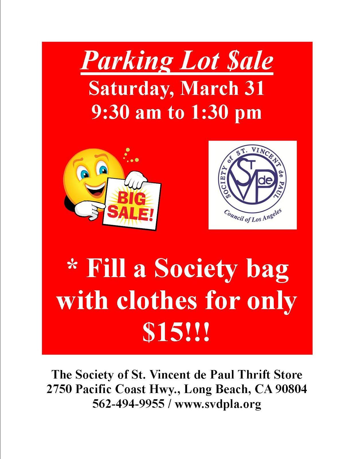 St vincent de paul of los angeles parking lot sale at for Lax long term parking lot