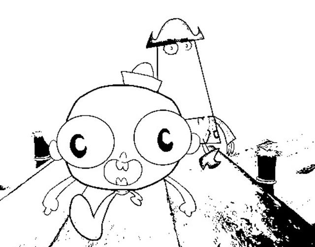 The Marvelous Adventure of Flapjack Coloring Pages title=