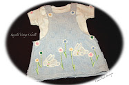 Sweet Vintage Chenille Baby Jumper with Tee - Darling Bunnies