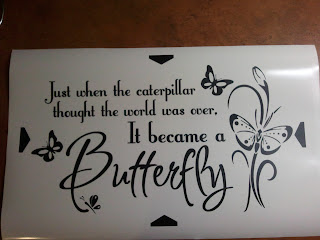 Custom Butterfly Wall Decal Quote