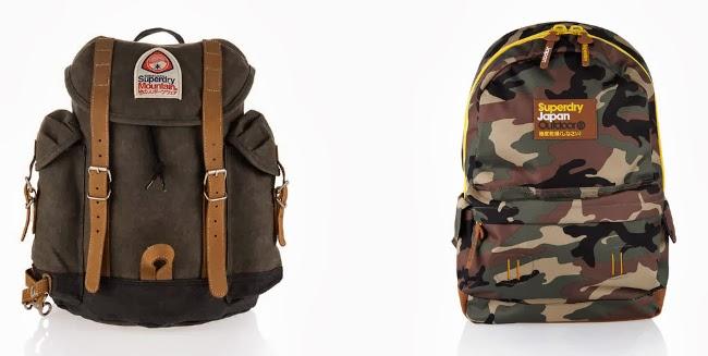 mochila de montaña y de camuflaje de superdry