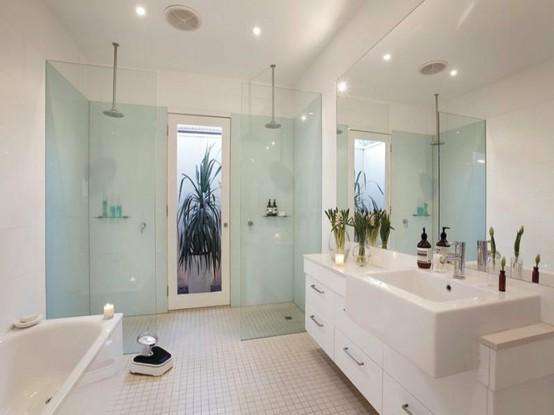 Jarrah jungle double shower indulgence for Bathroom ideas double shower