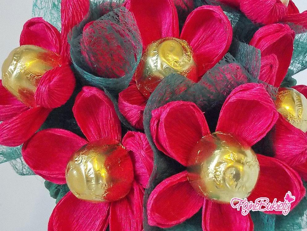 Bukiet z cukierków - wiśnie w likierze