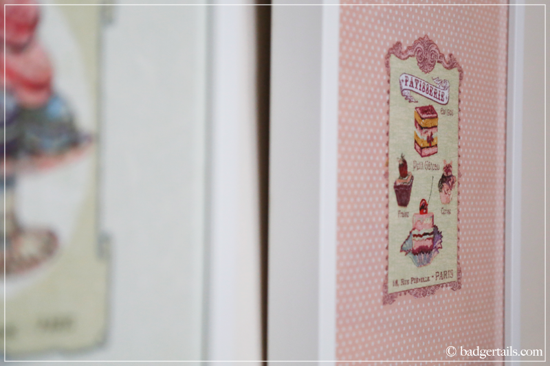 How to Frame a Tea Towel - French Tea Towel Framed on Wall