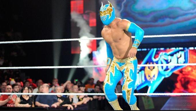 sin cara wwe debut. sin cara mask off. WWE RAW