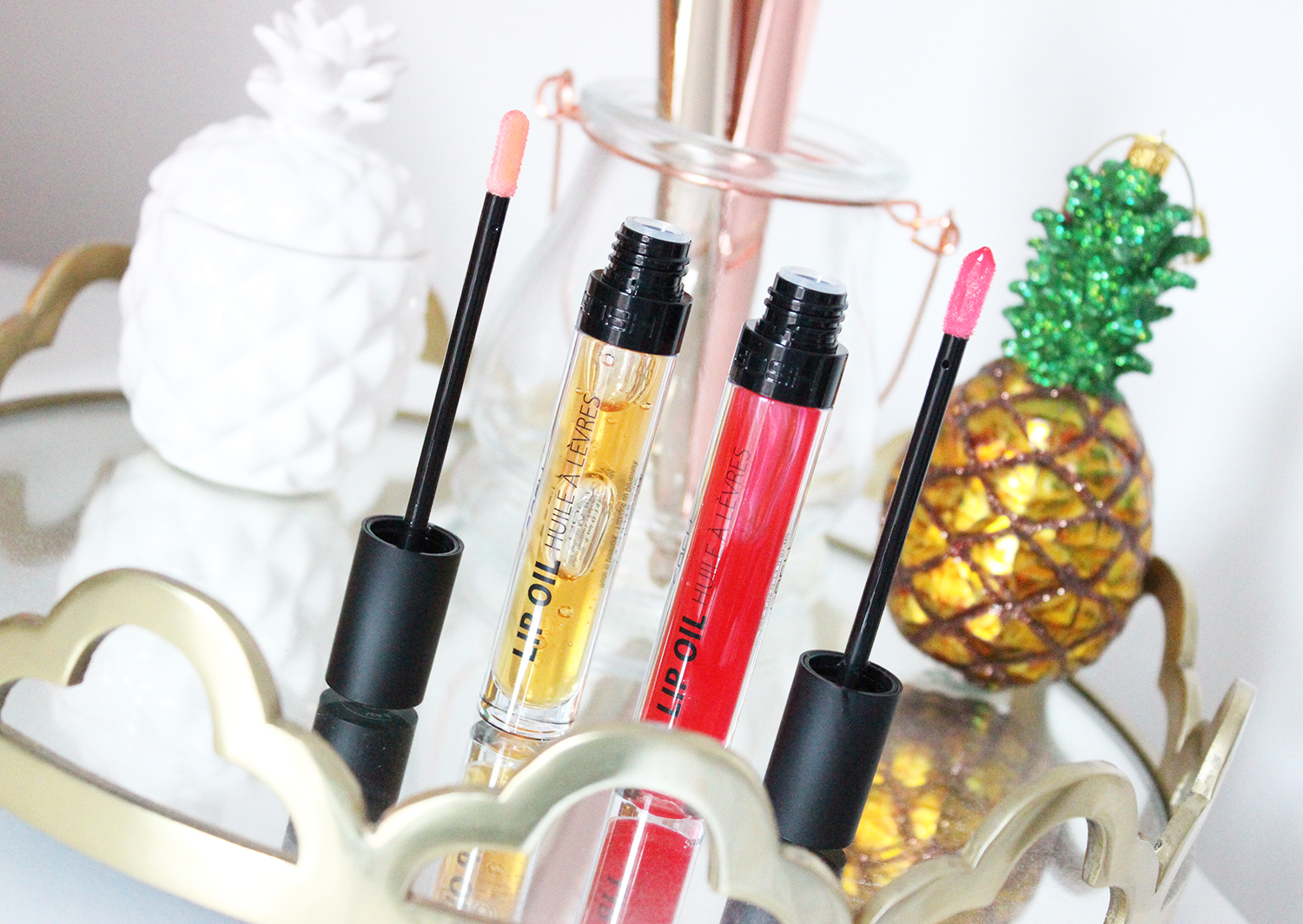 review: GOSH lip oils - Clarins dupe